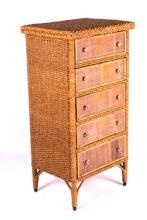 Fancy Antique Wicker Dresser