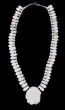 Navajo White Buffalo Turquoise Necklace