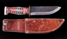 WWII US Trench Art Sawback Theater Knife