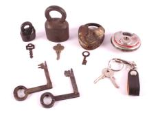 Lock and Antique Key Collection