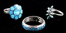 Navajo Sterling & Turquoise Ring Collection The co