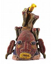 Yoruba Ceremonial Bird Fully Beaded Chiefs Crown T