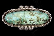 Navajo Old Pawn Turquoise Nugget Ring LARGE