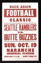 1952 Butte Buzzies Football Poster from Montana