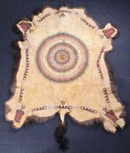 Northern Plains Black War Bonnet Buffalo Robe
