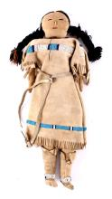 Native American Plains Indians Beaded Doll