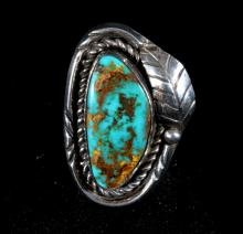 Turquoise and Silver Navajo Style Ring