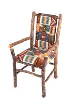 Hickory Rustic Style Wood Chair