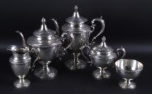 Alvin Sterling Silver Tea Set circa 1919-1928