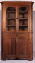Antique Walnut Corner Cupboard circa 1870