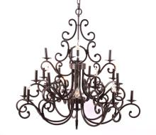 Wrought Iron Style 24 Light Chandelier