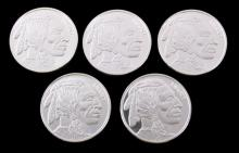 Indian Head Buffalo .999 Silver Coins (5 Troy Oz)
