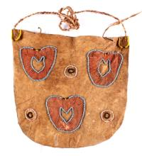 Cheyenne Beaded & Ochre Dyed Flat Bag 19th Century