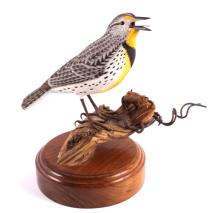 Meadowlark Carving by Connie Tveten Montana Artist