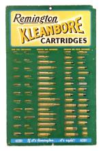 1930's Remington Kleanbore Ammunition Chart