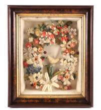 Victorian Floral Folk Art Ceremonial Shadow Box