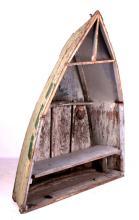Wooden Fishing Boat Bookshelf