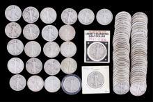 Walking Liberty Silver Half Dollars 97 Coins