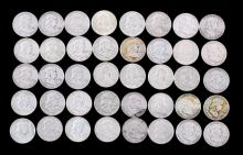Franklin Silver Half Dollar Collection of 40 Coins