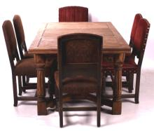 Antique Refractory Table and Chairs