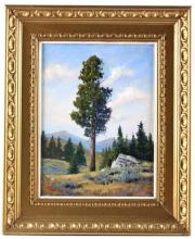 Yellowstone Park Painting by William Chapman