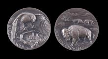 Wittnauer Longines Sterling Eagle & Bison Coins
