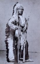 Touch The Clouds, Sioux by Julius Ulke, CA 1877 Th