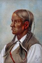 Quanah Chief by Gilbert Gaul (original 1890 print)