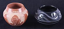 Santa Clara Pottery Fred Harvey Collection The lot
