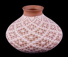 Mata Ortiz Lace Vase by Claudia Sanchez This is a