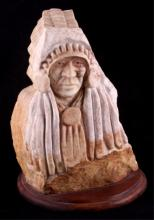 Native American Marble Carved Bust This is a Nativ