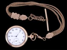 Elgin Gold Pocket Watch 7 Jewel circa 1919 This is