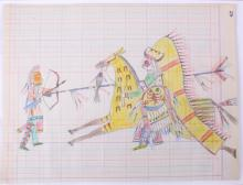 Northern Sioux Ledger Drawings 1890-1950 This is a