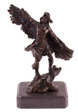 European Finery Native American Bronze Sculpture T