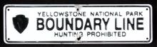 Yellowstone National Park Boundary Sign