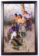 Offerings to the Little People by Howard Terpning