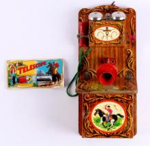 Wild West Telephone and Telescope This lot include
