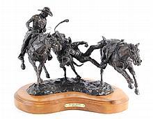 Go For Broke by Hal Lund Cowboy Bronze 4/10
