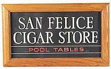 San Felice Cigar Store Pool Table Advertising Sign