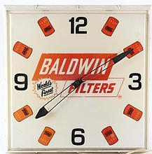 Baldwin Filters Lighted Advertising Clock