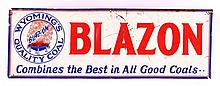 Blazon Coal Sign from Wyoming