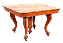 Antique Oak Claw Foot Dining Room Table