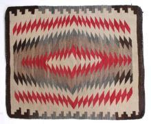 Navajo Crystal Eye Dazzler Rug 19th Century