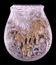 Silverado Silver Overlay Cowboy Money Clip