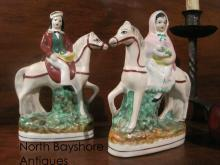 Pair of English Staffordshire Porcelain Figurines 1840s