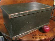 New England Miniature Painted Blanket Chest 1700s