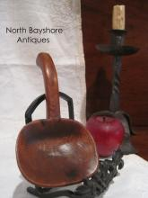 New England Miniature Childs Carved Cherry Butter Paddle 1800s