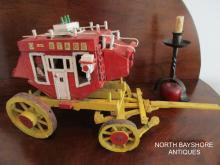 New England American Folk Art Handmade Stagecoach 1800s