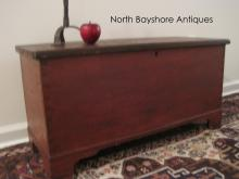 Chippendale Painted Miniature Dovetailed Blanket Chest 1700s