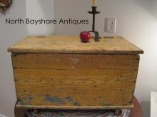 New England Primitive Paint Decorated Blanket Chest 1700s